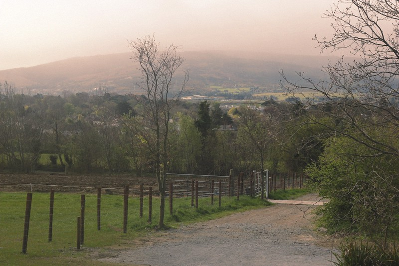 view on dublin mountains airfield farm