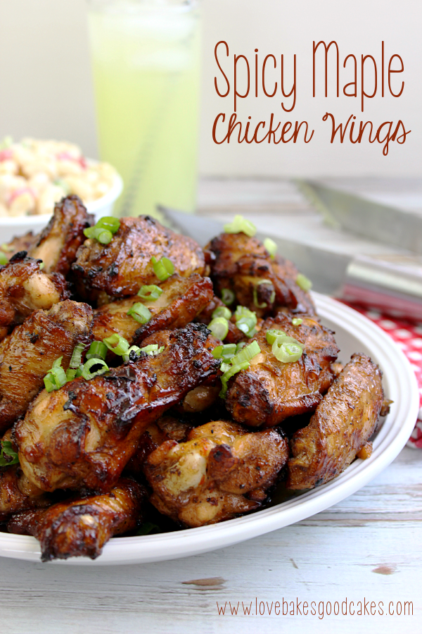 Spicy Maple Chicken Wings on a plate.