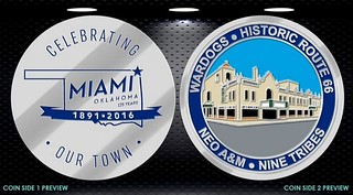Miami OK 125th anniversary coin