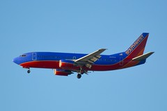 Southwest Boeing 737, 737-300 N345SA, descending to SFO   DSC_0146_edit