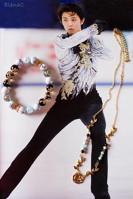 Yuzuru Hanyu - braccialetto e collanina POTO tesoro yuzuriano