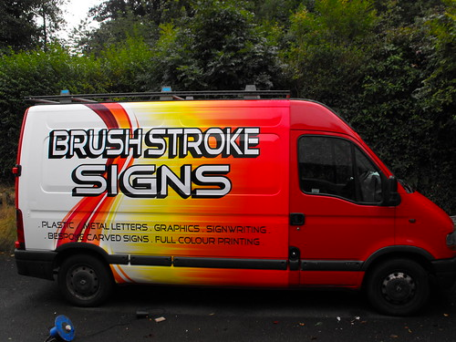 BRUSH STROKE SIGNS FULL COLOUR PRINTED VEHICLE WRAP