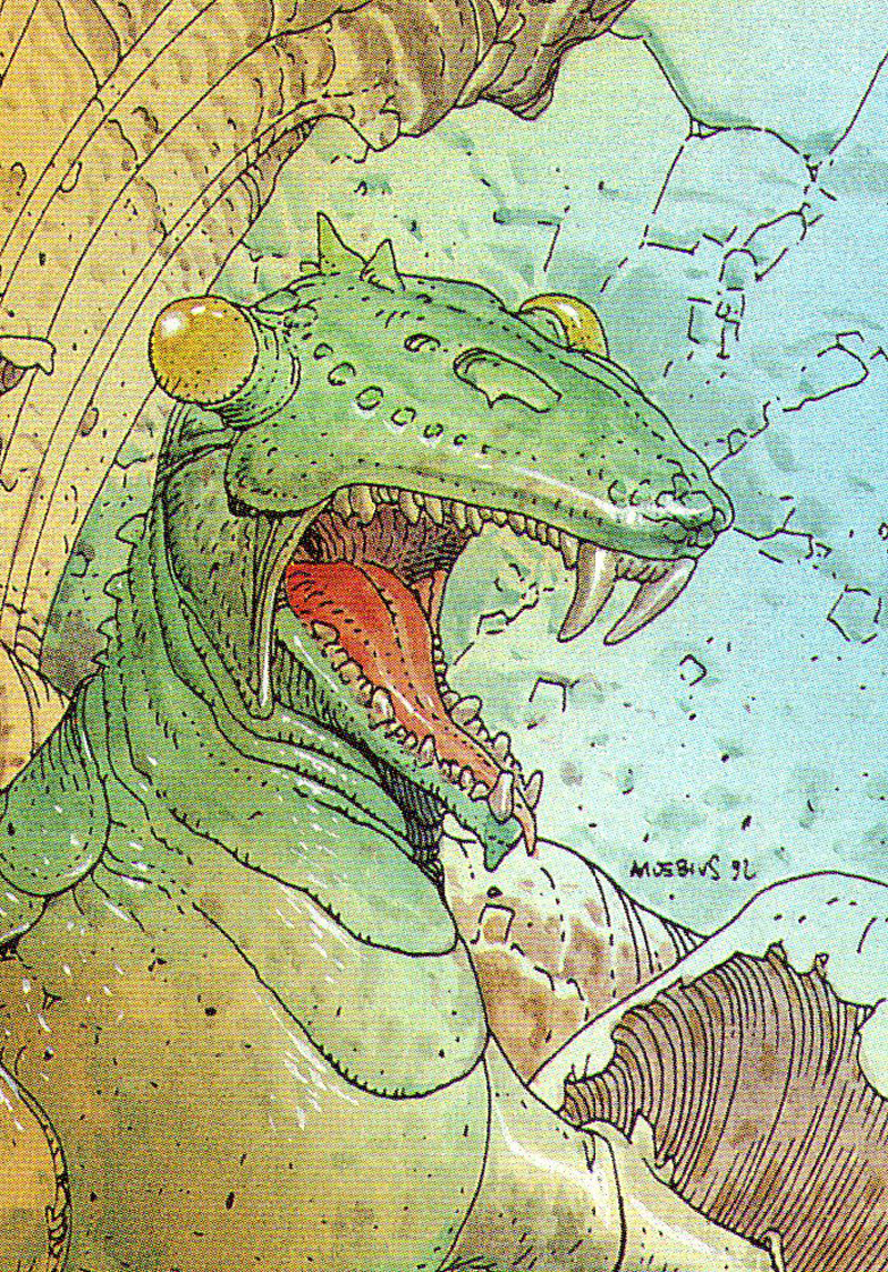 Moebius - Trading Card 70. THE EUCHINUS
