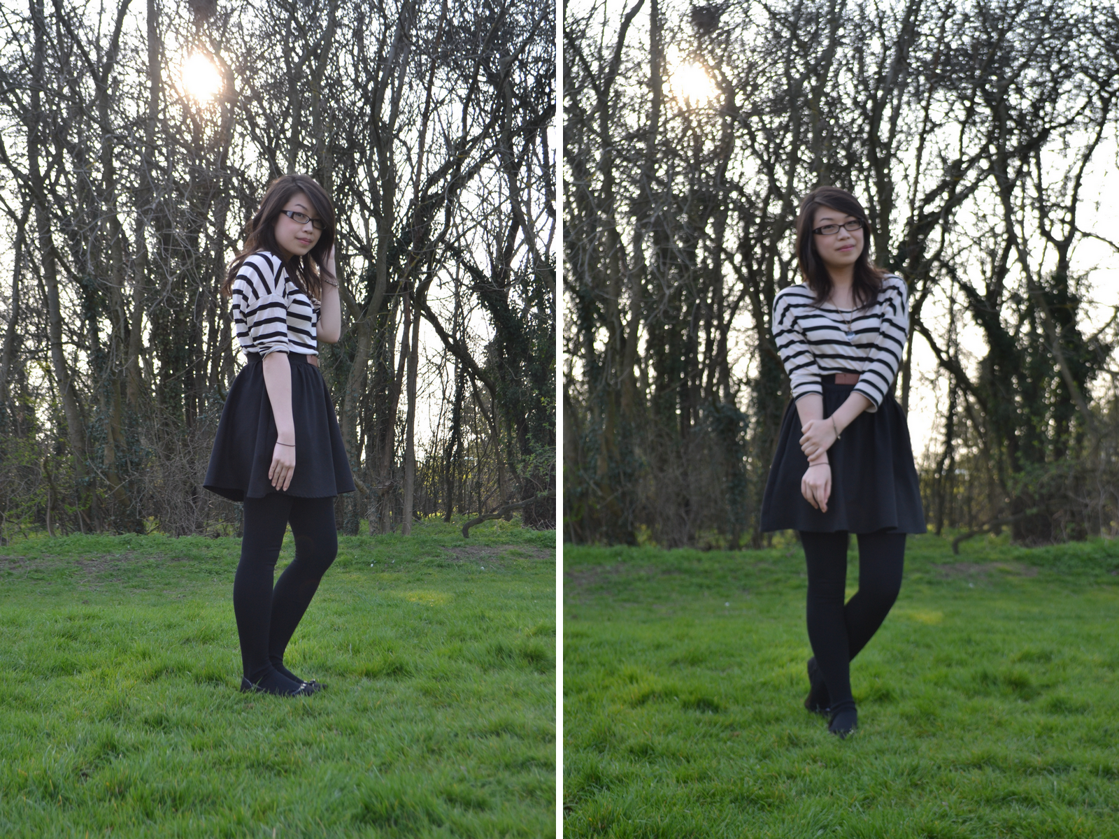 daisybutter - UK Style Blog: what i wore, breton top, classic, paris inspired, british fashion