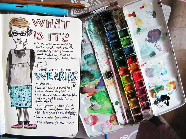 What I wore today drawing by iHanna