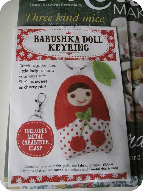 babushka key ring craft kit mollie makes