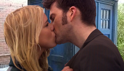 Doctor and Rose Kiss In Front Of TARDIS