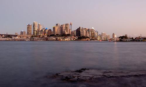 city longexposure sunset sea building water nikon rocks cityscape colours harbour dusk sydney australia wharf nsw nikkor sydneyharbour d90