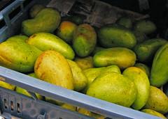 Losse, groene mango's