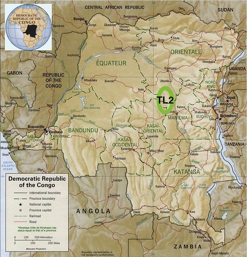 Project area in DR Congo