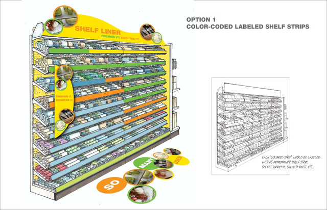Walmart Shelf Liner Concept