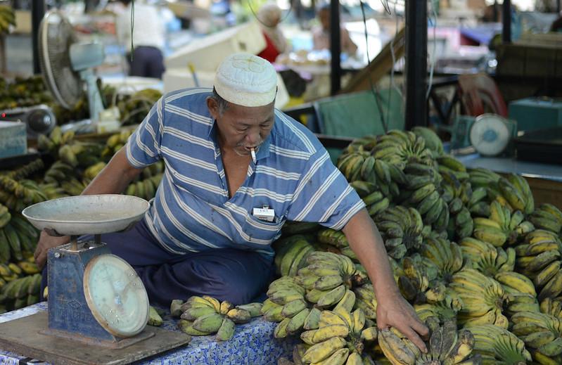 Brunei Market Bananas