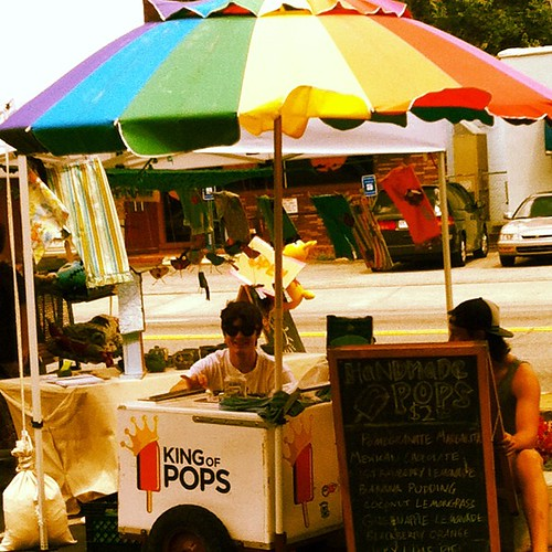 King of Pops is here. Yummy Popsicles. We had strawberry lemonade and banana pudding.