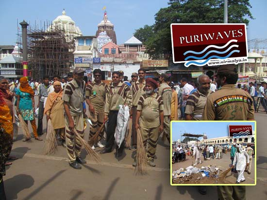 Dera Sacha Sauda Cleanliness Earth Campaign in Puri