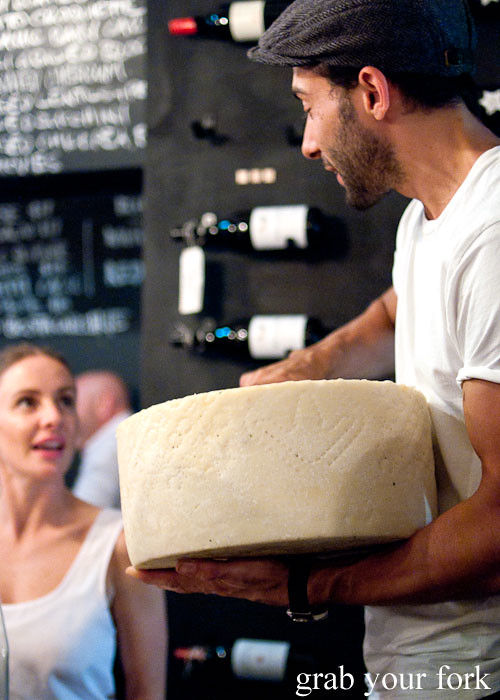 pecorino wheel at buffalo dining club darlinghurst