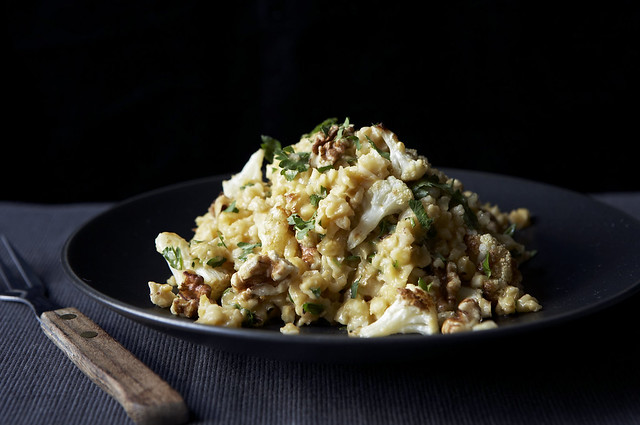 Kamut and Roasted Cauliflower Risotto
