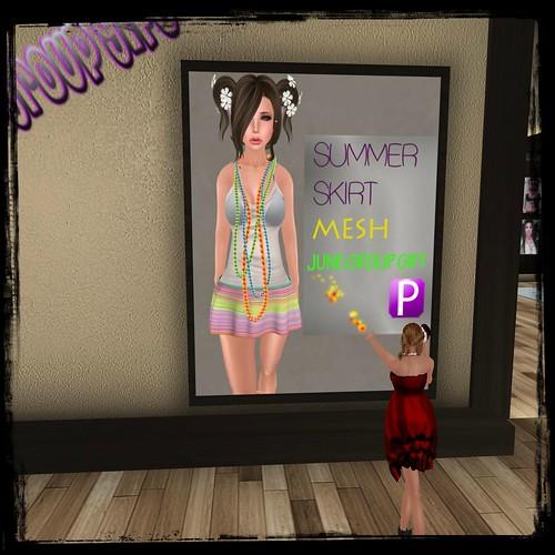 Piccara ~ Summer Skirt Mesh (members only) by Cherokeeh Asteria