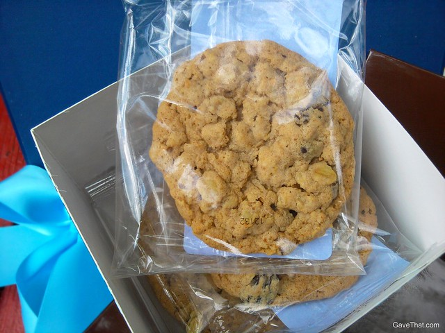 Cookies inside the Gift Accept gift box tower