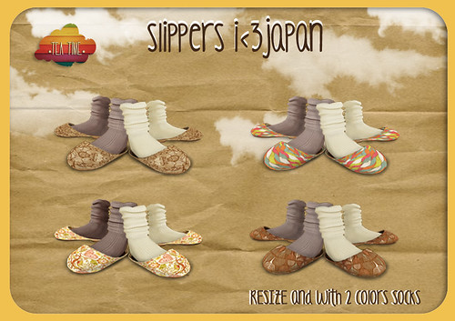 SLIPPERS I<3 JAPAN *Tea Time* MidNight-Dream-2012 summer EVENT <33