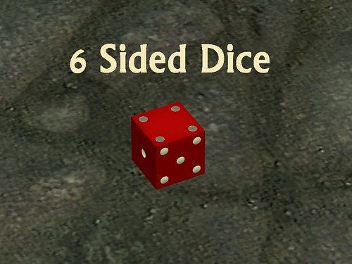 Dice 6 Sided ingame