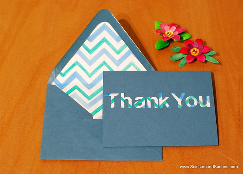 Chevron Card and Matching Envelope