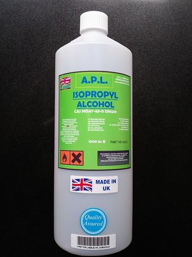 ipa isopropyl alcohol isopropanol 1 litre 99 9 1lt ebay. Black Bedroom Furniture Sets. Home Design Ideas