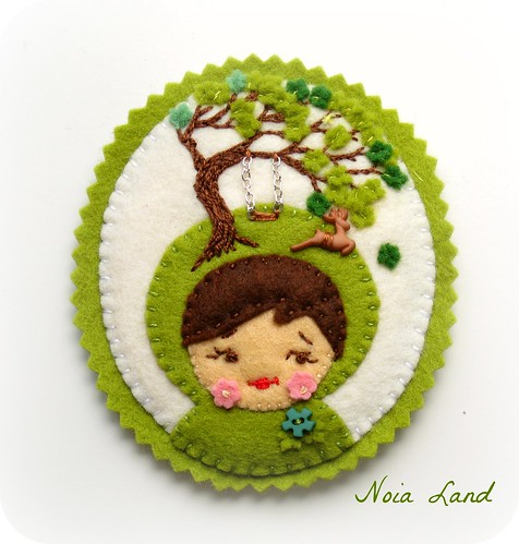 Broche vendaval en el bosque