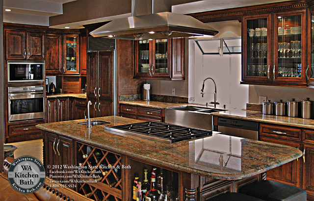 800 935 5524 kitchen island cooktop chocolate maple glaze cabinets