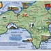 Postcard map of South West Cornwall by Alwyn Ladell