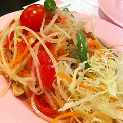 salad, vegetable, cellophane noodles, spaghetti aglio e olio, green papaya salad, food, dish, chinese noodles, cuisine, chow mein,
