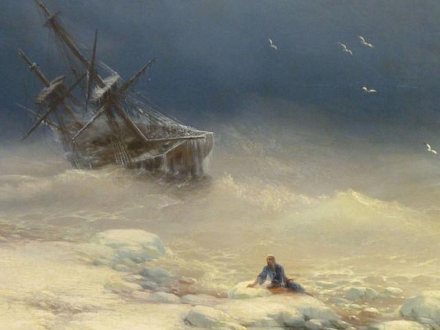 Айвазовский Буря фрагмент
