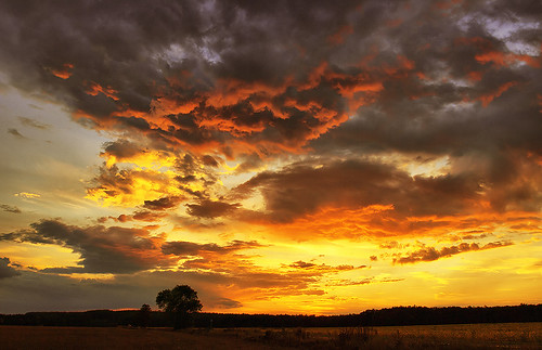 sunset sky orange nature clouds skyscape landscape scenery colorful hungary scape hdr cloudscape