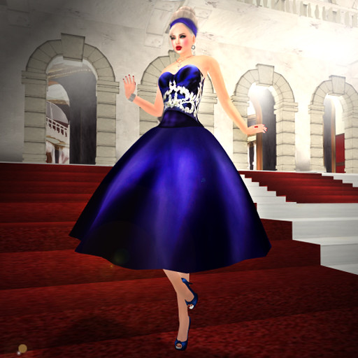 Amazing royal blue Ballgown 1