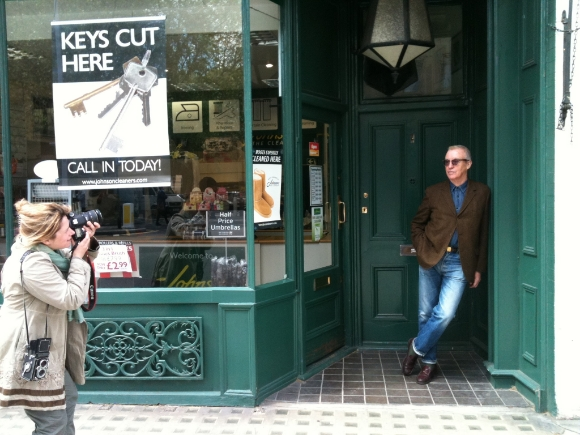 Lloyd Johnson in the doorway of 406 King's Road - site of his Johnson's The Modern Outfitter boutique 1978-2000