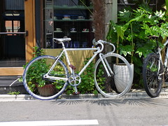 Fixie in front of Kyoto Cafe