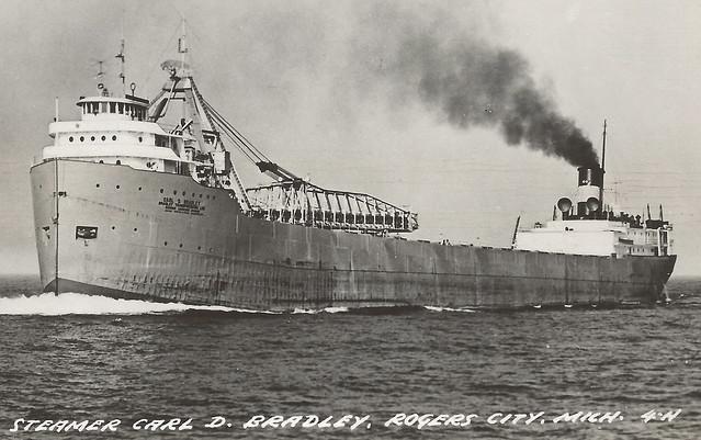 ss carl d bradley  u0026 tugs rppc shipwreck disaster lake michigan 1958 33 of 35