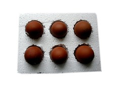 brown, chocolate balls, bonbon, produce, food, chocolate, praline,