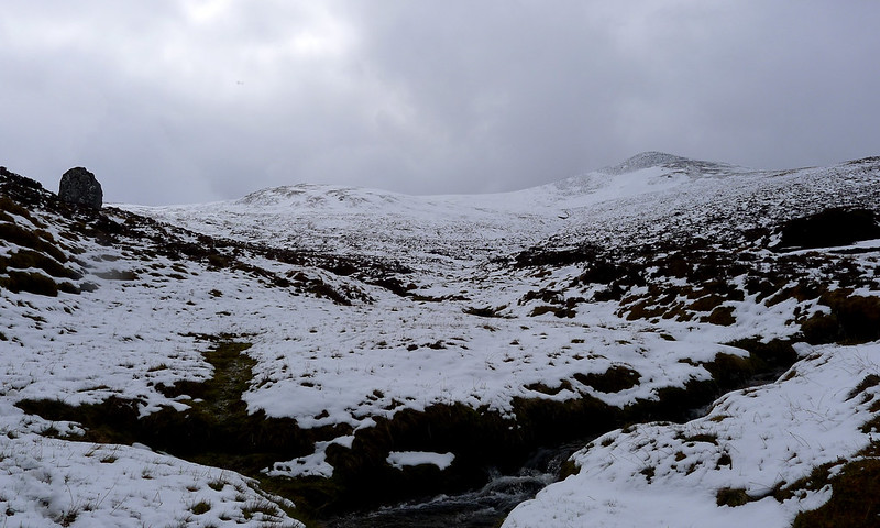 Looking back up to Carn nan Gobhar