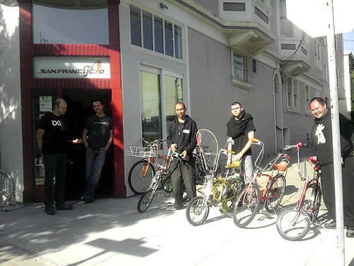 The Gang at San Francyclo bike shop