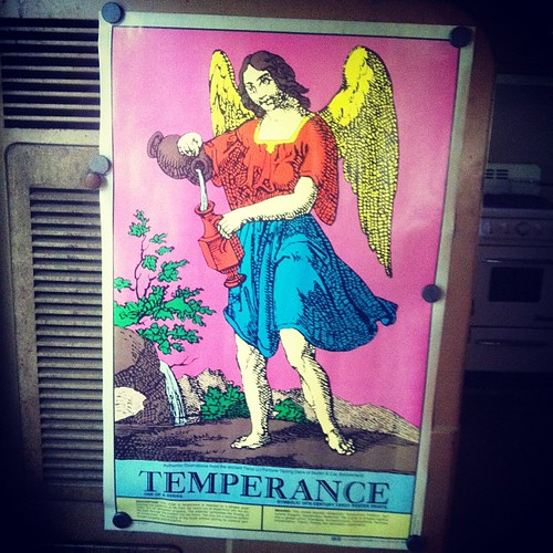 Vintage Temperance poster for the tarot trailer!
