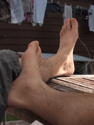feet up in the sun