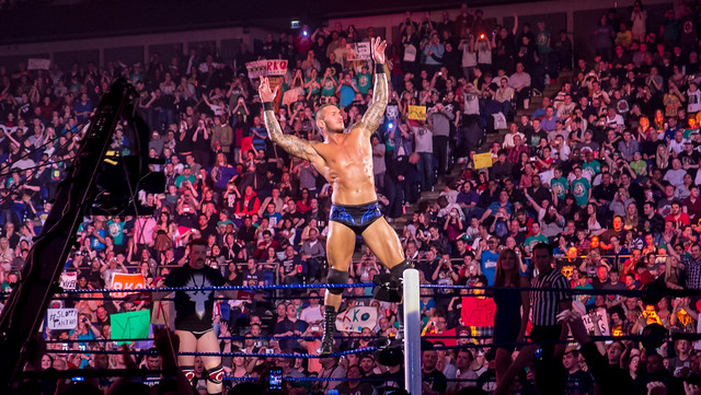 Randy Orton at Smackdown taping in London 17th April 2012