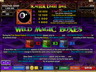 free Magic Boxes slot payout