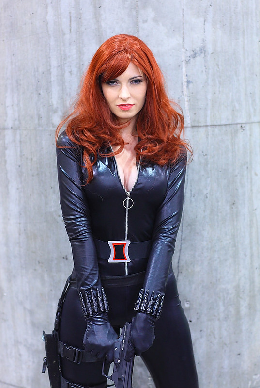 Katrina Morgan as the Black Widow 2012 Phoenix Comicon (PCC)