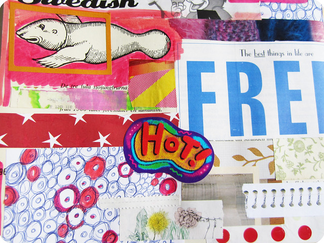 Art journal detail: hot and free