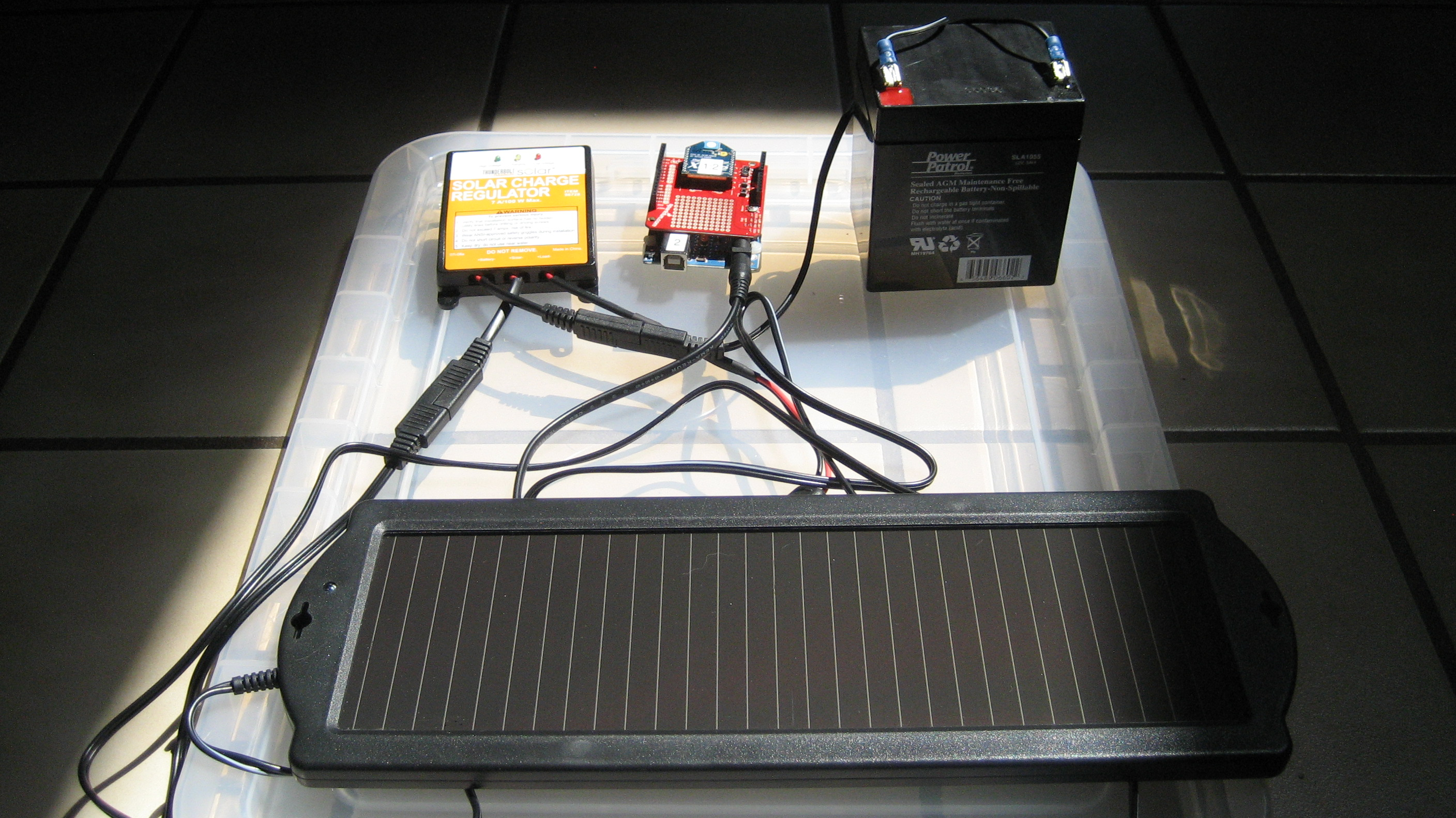 Solar battery powered arduino with zigbee flickr