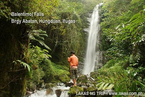 Balentimol Falls in Barangay Abatan, Hungduan, Ifugao