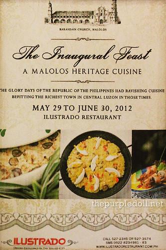 Ilustrado Restaurant Inaugural Feast