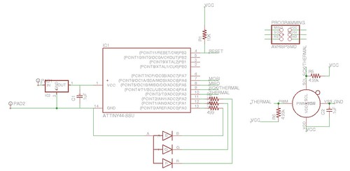 Mini thermal flashlight schematic