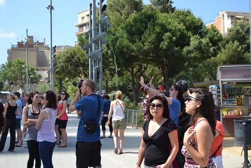 Tourists in Sagrada Familia